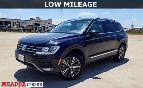 2018 Volkswagen Tiguan for sale at Meador Dodge Chrysler Jeep RAM in Fort Worth TX