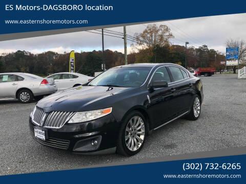 2010 Lincoln MKS for sale at ES Motors-DAGSBORO location in Dagsboro DE
