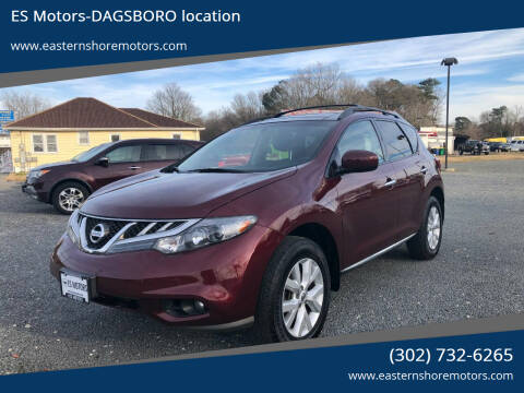 2011 Nissan Murano for sale at ES Motors-DAGSBORO location in Dagsboro DE