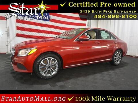 2018 Mercedes-Benz C-Class for sale at STAR AUTO MALL 512 in Bethlehem PA