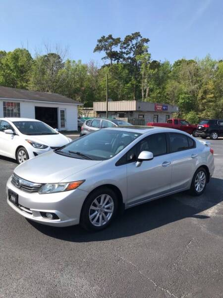 2012 Honda Civic for sale at Northgate Auto Sales in Myrtle Beach SC