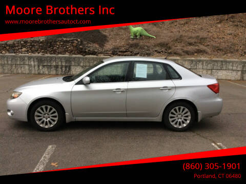 2008 Subaru Impreza for sale at Moore Brothers Inc in Portland CT
