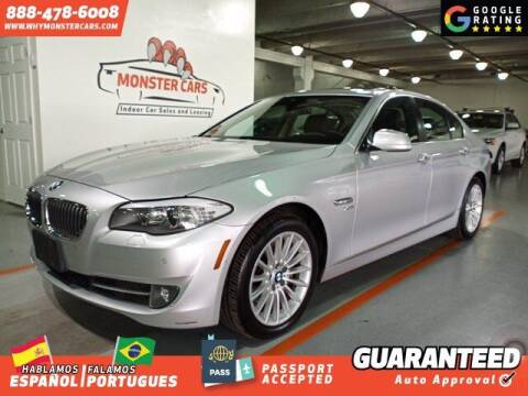 2012 BMW 5 Series for sale at Monster Cars in Pompano Beach FL