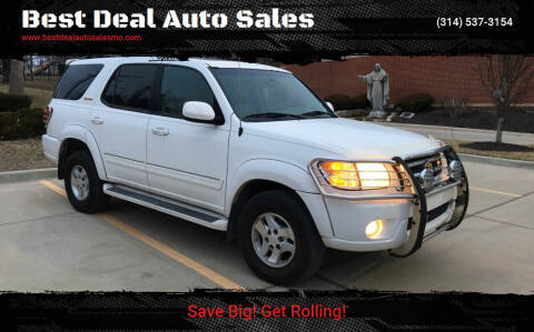 2001 Toyota Sequoia for sale at Best Deal Auto Sales in Saint Charles MO