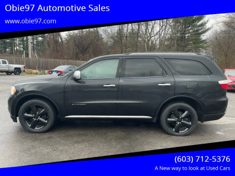 2013 Dodge Durango for sale at Obie97 Automotive Sales in Londonderry NH