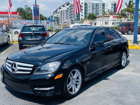 2012 Mercedes-Benz C-Class for sale at CHASE MOTOR in Miami FL