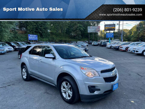 2012 Chevrolet Equinox for sale at Sport Motive Auto Sales in Seattle WA