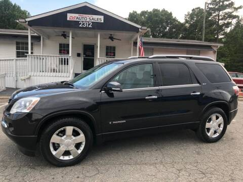 2008 GMC Acadia for sale at CVC AUTO SALES in Durham NC