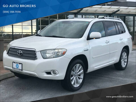 2009 Toyota Highlander Hybrid for sale at GO AUTO BROKERS in Bellevue WA