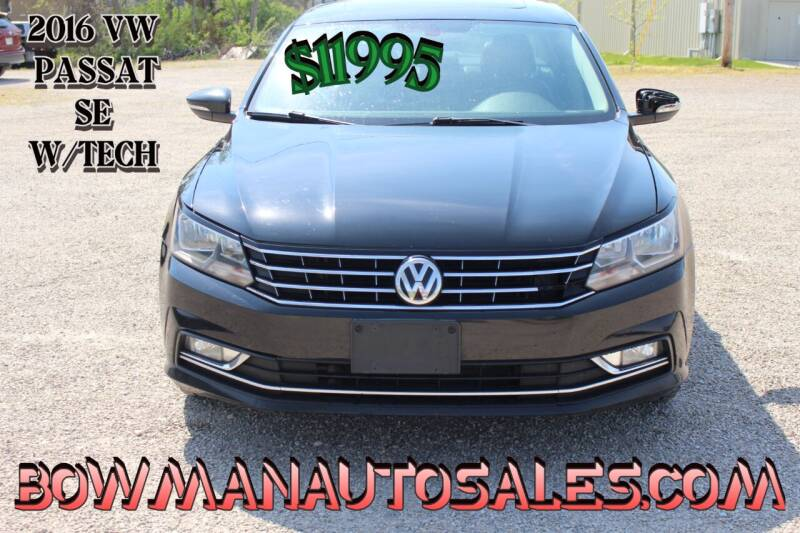 2016 Volkswagen Passat for sale at Bowman Auto Sales in Hebron OH