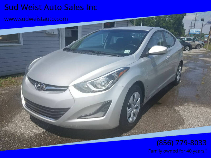 2016 Hyundai Elantra for sale at Sud Weist Auto Sales Inc in Maple Shade NJ
