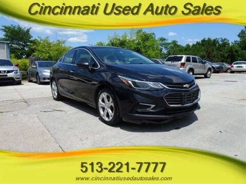 2016 Chevrolet Cruze for sale at Cincinnati Used Auto Sales in Cincinnati OH