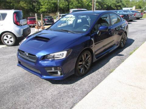 2016 Subaru WRX for sale at WORKMAN AUTO INC in Pleasant Gap PA
