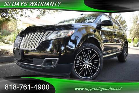 2011 Lincoln MKX for sale at Prestige Auto Sports Inc in North Hollywood CA
