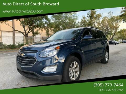 2017 Chevrolet Equinox for sale at Auto Direct of South Broward in Miramar FL
