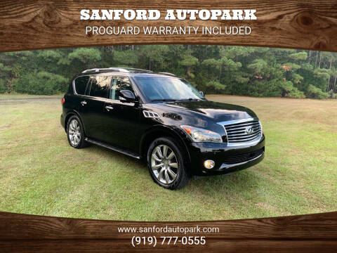 2012 Infiniti QX56 for sale at Sanford Autopark in Sanford NC