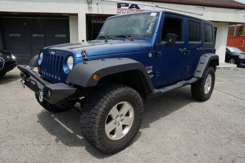 2009 Jeep Wrangler Unlimited for sale at PA Motorcars in Conshohocken PA