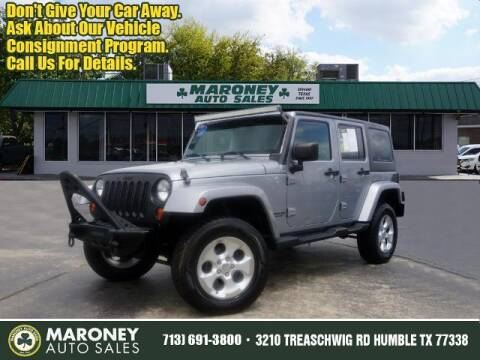 2013 Jeep Wrangler Unlimited for sale at Maroney Auto Sales in Humble TX