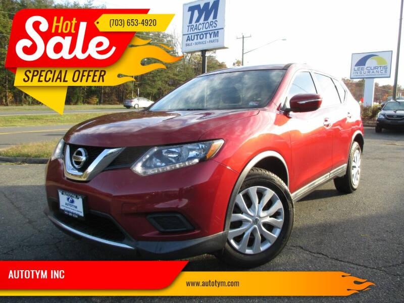 2015 Nissan Rogue for sale at AUTOTYM INC in Fredericksburg VA