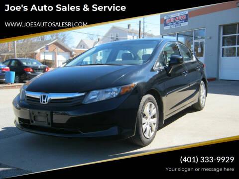 2012 Honda Civic for sale at Joe's Auto Sales & Service in Cumberland RI