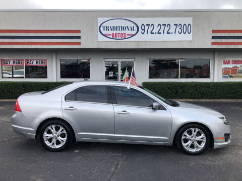 2012 Ford Fusion for sale at Traditional Autos in Dallas TX