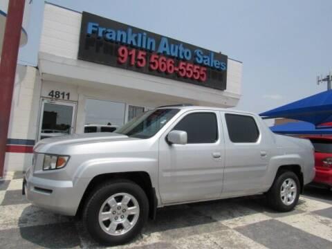 2008 Honda Ridgeline for sale at Franklin Auto Sales in El Paso TX