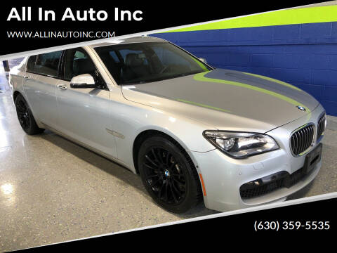 2014 BMW 7 Series for sale at All In Auto Inc in Addison IL