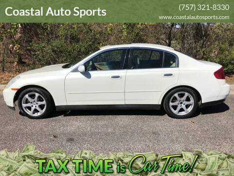 2003 Infiniti G35 for sale at Coastal Auto Sports in Chesapeake VA