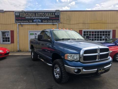 2003 Dodge Ram Pickup 2500 for sale at Virginia Auto Mall in Woodford VA