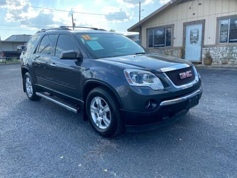 2011 GMC Acadia for sale at The Trading Post in San Marcos TX