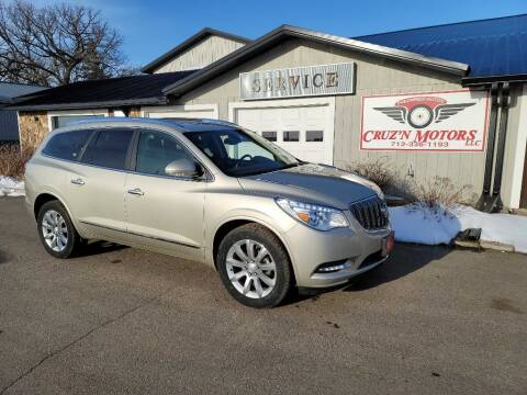 2014 Buick Enclave for sale at CRUZ'N MOTORS in Spirit Lake IA
