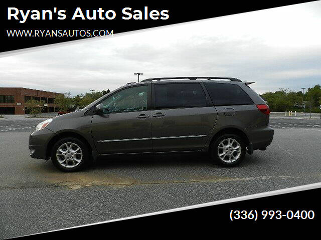 2005 Toyota Sienna for sale at Ryan's Auto Sales in Kernersville NC
