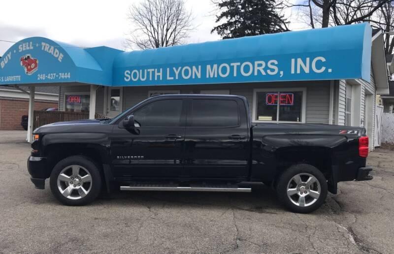 2018 Chevrolet Silverado 1500 for sale at South Lyon Motors INC in South Lyon MI