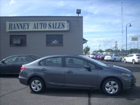 2013 Honda Civic for sale at Ranney's Auto Sales in Eau Claire WI