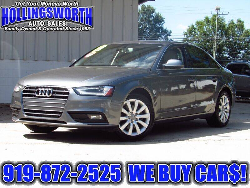 2013 Audi A4 for sale at Hollingsworth Auto Sales in Raleigh NC