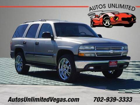2002 Chevrolet Tahoe for sale at Autos Unlimited in Las Vegas NV