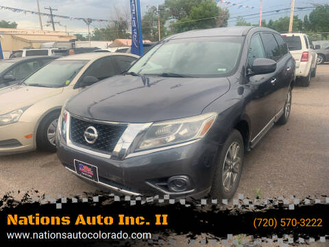 2013 Nissan Pathfinder for sale at Nations Auto Inc. II in Denver CO