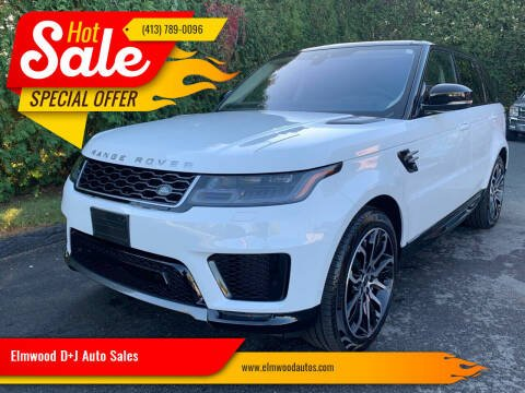 2019 Land Rover Range Rover Sport for sale at Elmwood D+J Auto Sales in Agawam MA