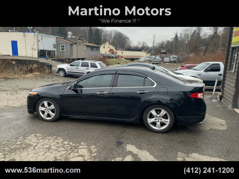 2010 Acura TSX for sale at Martino Motors in Pittsburgh PA