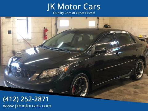 2009 Toyota Corolla for sale at JK Motor Cars in Pittsburgh PA
