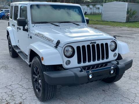 2017 Jeep Wrangler Unlimited for sale at Consumer Auto Credit in Tampa FL