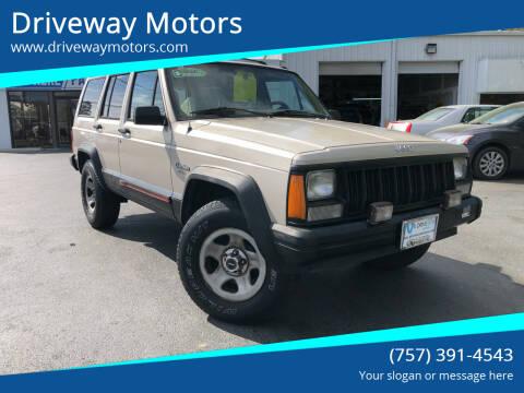 1996 Jeep Cherokee for sale at Driveway Motors in Virginia Beach VA