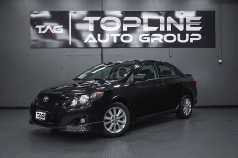 2009 Toyota Corolla for sale at TOPLINE AUTO GROUP in Kent WA