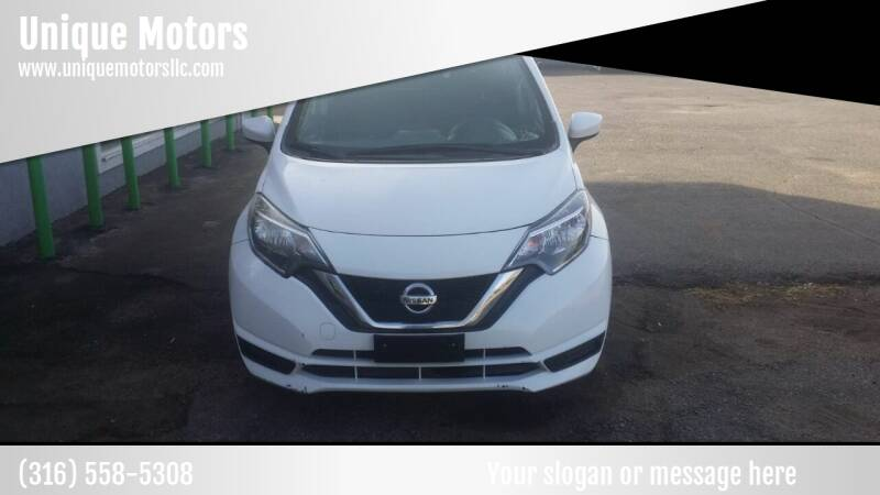 2017 Nissan Versa Note for sale at Unique Motors in Wichita KS