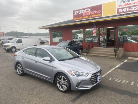 2017 Hyundai Elantra for sale at Pro Motors in Roseburg OR