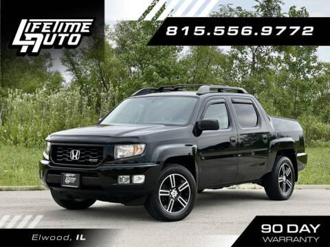 2014 Honda Ridgeline for sale at Lifetime Auto in Elwood IL