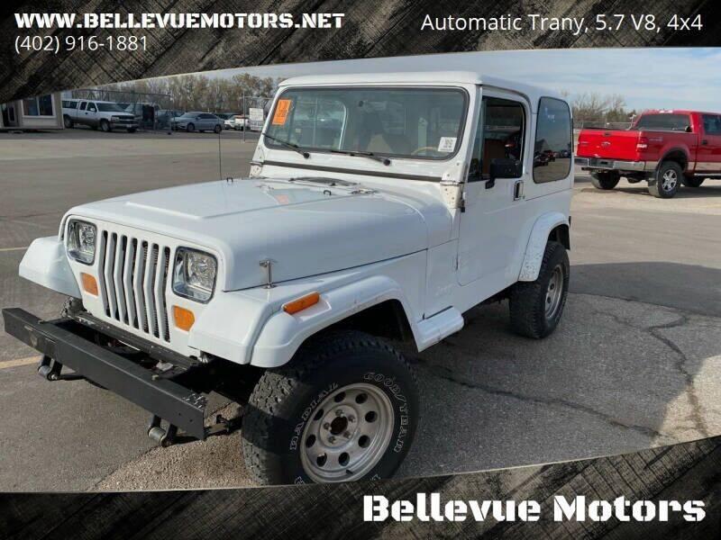 1990 Jeep Wrangler for sale at Bellevue Motors in Bellevue NE