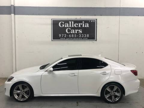 2013 Lexus IS 250 for sale at Galleria Cars in Dallas TX