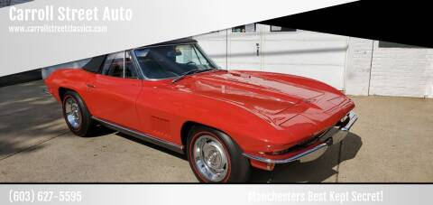1967 Chevrolet Corvette for sale at Carroll Street Auto in Manchester NH