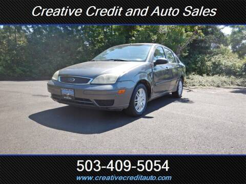2006 Ford Focus for sale at Creative Credit & Auto Sales in Salem OR
